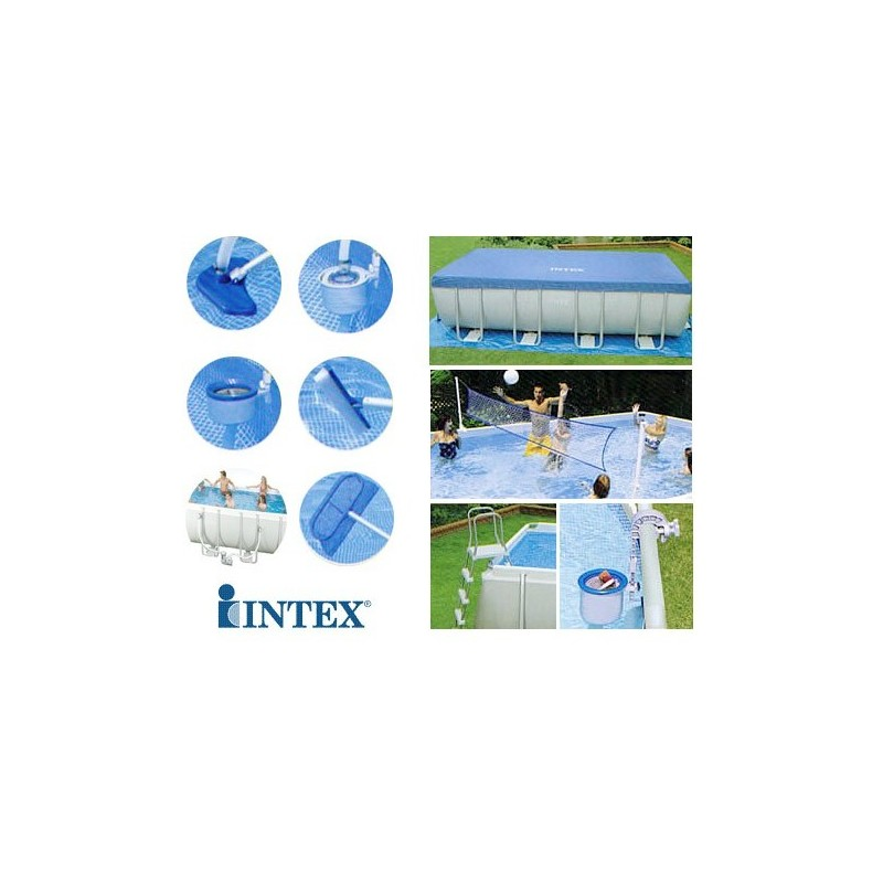 Intex Metal Rectangle Ultra Frame Pool 975x488x132 Cm