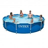 Intex Metal Frame Pool 366 x 76 cm rond zwembad