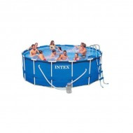 Intex Metal Frame Pool 457 x 107 cm rond zwembad