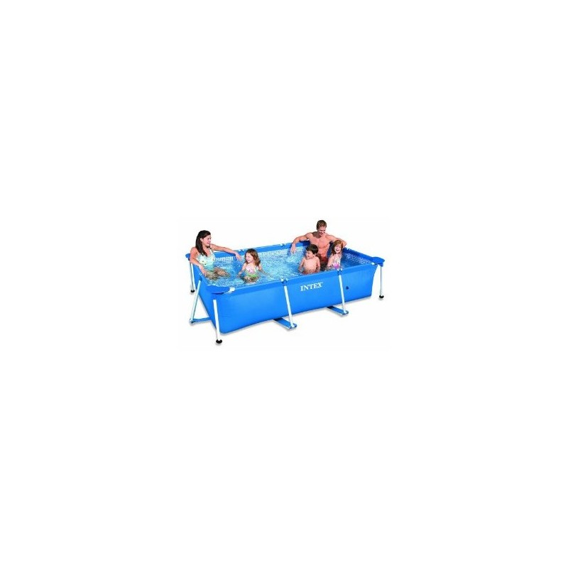 Intex rectangle metal frame pool 260 x 160 x 65cm for Zwembad metaal