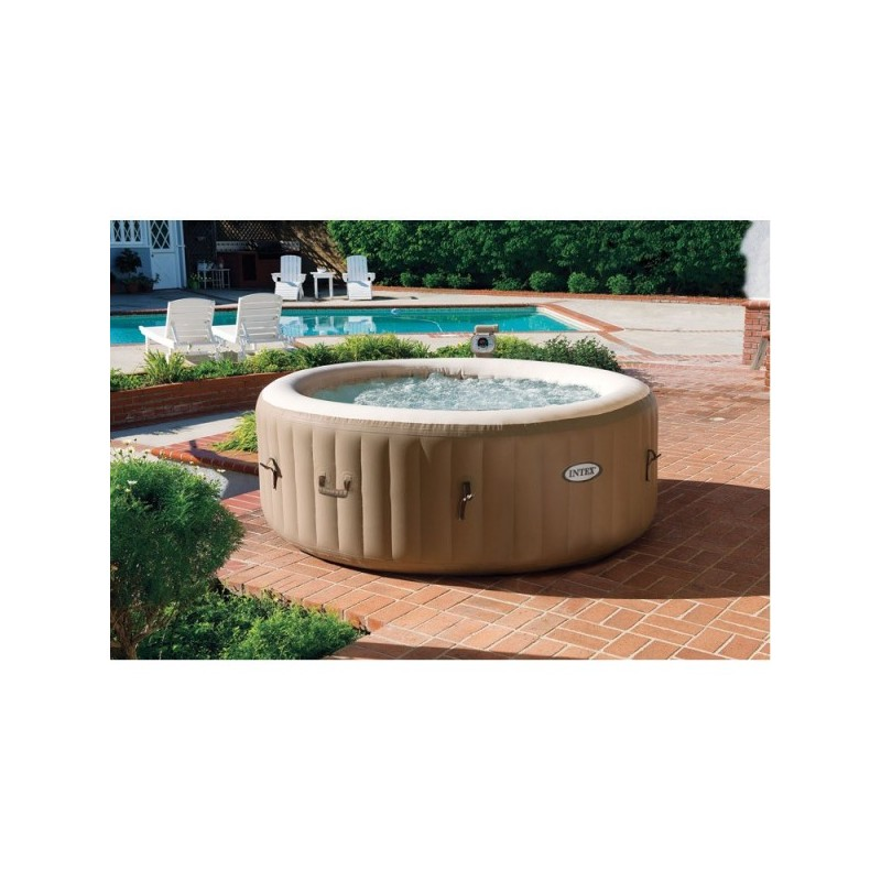 jacuzzi whirlpool kopen intex bubble spa therapy 4 persoons opblaasbare bubblebad pure spa. Black Bedroom Furniture Sets. Home Design Ideas