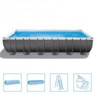 Intex Rectangle Ultra Frame Pool 732 x 366 x 132 cm