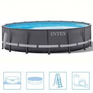 Intex Ultra Frame Pool Rond 488 x 122 cm
