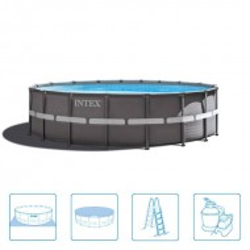 Intex Ultra Frame Pool Rond 549 x 132 cm zandfiter 6m/3
